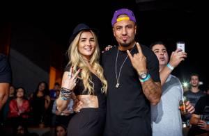Fernando e Aline, do 'BBB15', curtem juntos show da banda O Rappa no Rio