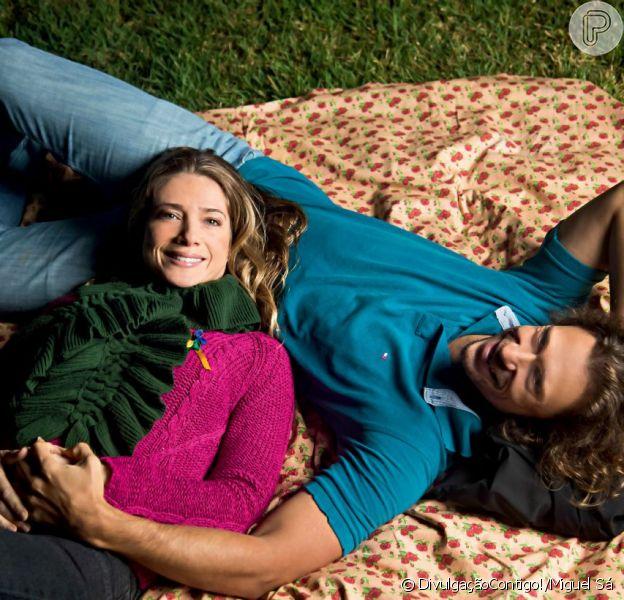 Leticia Spiller quer se casar na igreja com Lucas Loureiro. O casal está junto há 4 anos. A atriz conversou com a revista 'Contigo!' de 5 de junho de 2013