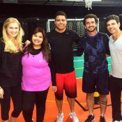 'Medida Certa': Ronaldo e a namorada participam de treino com Fabiana Karla