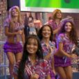 O 'Domingão do Faustão' relembra imagens de Mirella Santos como dançarina do programa. Carol Nakamura também aparece no resgistro