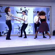 Fátima Bernardes tem aula de Lindy Hop no 'Encontro': 'Bonito o nosso baile'