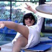 Monica Iozzi leva tombo ao sentar em cadeira de isopor no 'Mais Você':'Caí sexy'