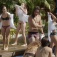 Atrizes exibem boa forma em cena na piscina em 'Malhação'