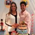Fernanda Gentil e seu marido, o empresário Matheus Braga, estão esperando o primeiro filho do casal