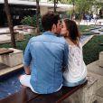 Camila Queiroz e Lucas Cattani estão juntos há pouco mais de dois anos