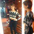 Isabella Santoni posa com look da grife John John Denim