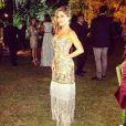 A atriz Priscila Sol usou vestido Trinitá Couture