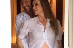 Aos 42 anos, Flávia Monteiro dá à luz sua primeira filha, Sophia