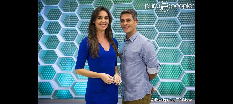 Glenda Kozlowski se despede do parceiro do 'Esporte Espetacular', Ivan Moré, neste domingo, 5 de julho de 2015