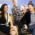 Os atores se divertem durante entrevista para falar do novo filme, que estreou no início do mês de julho de 2015
