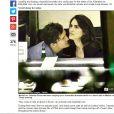 'Orlando e a mulher não conseguiram deixar as mãos e lábios longe um do outro', disse uma fonte do 'Daily Mail'
