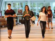Fátima Bernardes faz compras durante passeio por shopping ao lado dos filhos