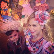 Eliana se veste de caipira e promove arraiá ao lado do filho, Arthur: 'Meu amor'