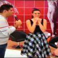 Bruna Marquezine conversa com Fátima Bernardes durante ensaio da 'Dança dos Famosos'