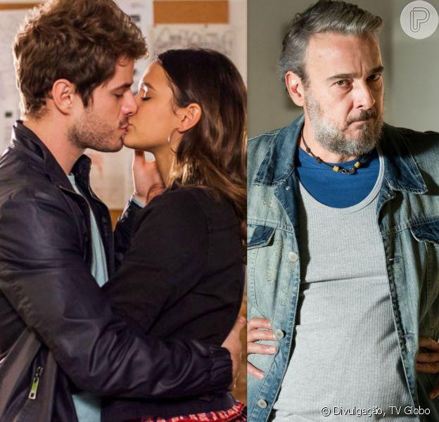 Benjamin (Maurício Destri) dorme no quarto de Mari (Bruna Marquezine) e Juju (Alexandre Borges) exige que ele se case com a moça, na novela 'I Love Paraisópolis', em 3 de agosto de 2015