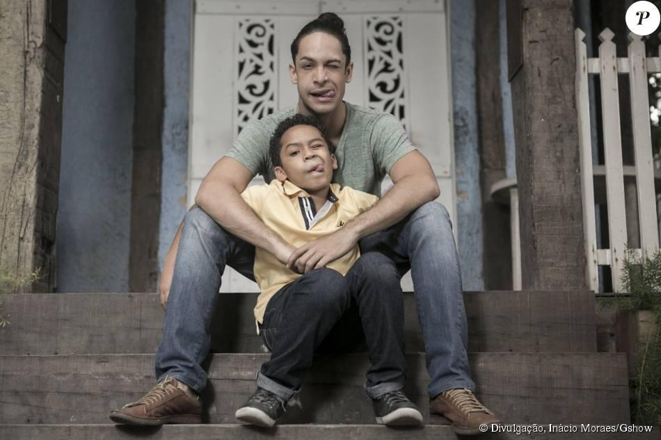 Rainer Cadete fez ensaio fotográfico com o filho Pietro, de 8 anos, para o site 'Gshow'