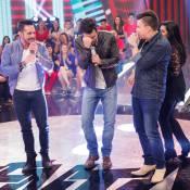 Joaquim Lopes brinca ao cantar durante o 'Esquenta!': 'Vai esvaziar tudo aqui'