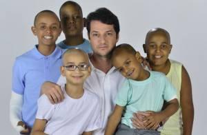 Marcelo Serrado grava campanha em prol da luta contra o câncer infantojuvenil