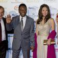 Pelé e Márcia Aoki participaram do Golden Foot 2012, que aconteceu em outubro de 2012 em Mônaco