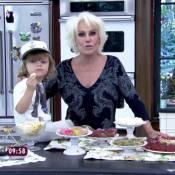 Ana Maria Braga recebe a visita do neto durante o 'Mais Você': 'Está falando!'