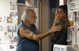Novela 'A Regra do Jogo': Romero flagra Atena sendo ameaçada por Ascânio
