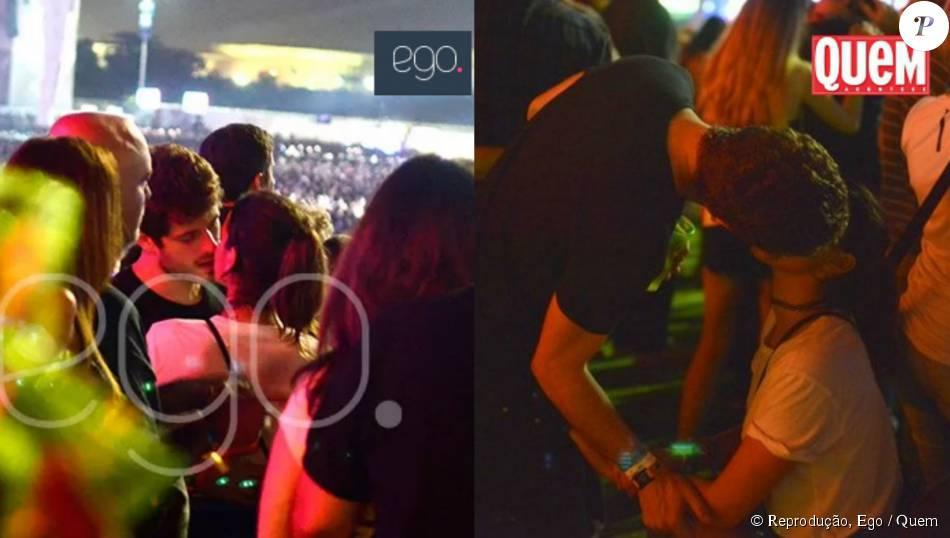 Bruna Marquezine e Mauricio Destri foram flagrados aos beijos no Rock in Rio 2015. O registro foi feito pelo  site 'Ego' e revista 'Quem'