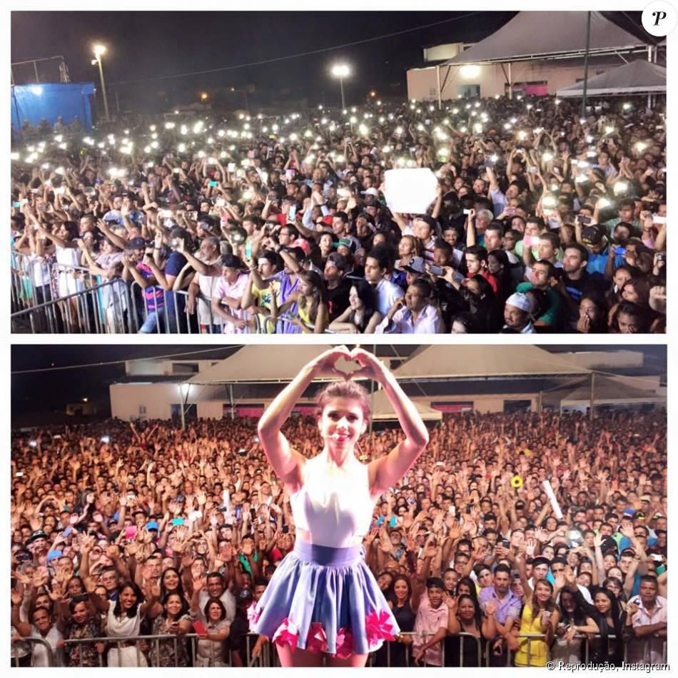 Paula Fernandes posta foto do show lotado, em Abaíra na Bahia, na madrugada deste domingo, 20 de setembro de 2015