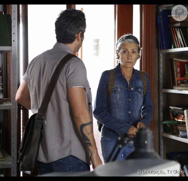 Djanira (Cassia Kis) vai ficar chocada com a revelação que terá nos próximos capítulos da novela 'A Regra do Jogo'