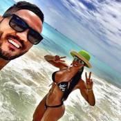 Gracyanne Barbosa comemora aniversário com Belo em praia paradisíaca em Cancún