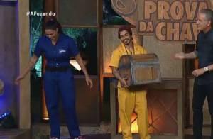 'A Fazenda 8': Douglas Sampaio vence Rebeca Gusmão na disputa da Prova da Chave