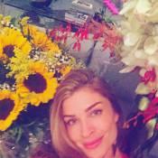Grazi Massafera recebe flores no fim de 'Verdades Secretas': 'Primavera em casa'