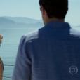 Final da novela 'Verdades Secretas': sufocada pela culpa após a morte de Carolina (Drica Moraes), Angel (Camila Queiroz) mata Alex (Rodrigo Lombardi)! Ela o leva até Angra dos Reis e atira no empresário durante passeio de lancha