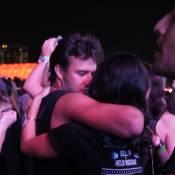Yanna Lavigne e Nando Rodrigues se beijam durante show da Rihanna no Rock in Rio