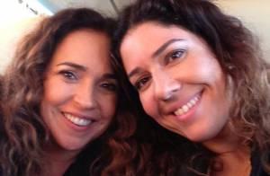 Daniela Mercury e Malu Verçosa comemoram aniversário juntas pela primeira vez