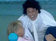 Xuxa revive cena de filme com Sergio Mallandro, mas sem beijo:'Mudou o roteiro?'