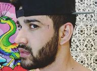 Gusttavo Lima mostra tatuagem no rosto e fãs comparam com Grego e MC Guimê