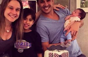 Fernanda Gentil mostra boa forma um mês após o nascimento do filho, Gabriel