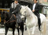 Russell Crowe e Colin Farrell, mesmo com vizinhança irritada, rodam filme em NY