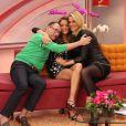 Ana Hickmann apresenta do 'Programa da Tarde' na TV Record ao lado de Britto Jr. e Ticiane Pinheiro
