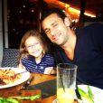 O jogador Fred é pai de Geovanna, de 7 anos. A menina é a única filha do craque do Fluminense