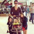 Rodrigo Faro é pai de Clara, de 8 anos, Maria, de 5, e Helena, de apenas 7 meses