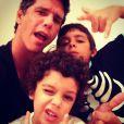 Márcio Garcia é pai de Pedro, de 9 anos, Nina, de 8, e Felipe, de 4. Os filhos são fruto do casamento com a nutricionista Andréa Santa Rosa