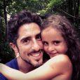 Marcos Mion tem três filhos: Donatella, Romeo e Stefano. Na foto, o paizão aparece com Donatella