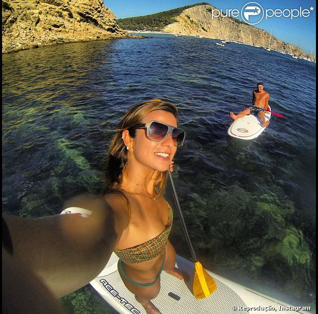 Ronaldo e Paula Morais curtem dia de sol em Ibiza, em 15 de agosto de 2013