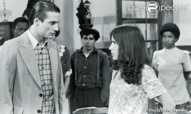 Com apenas 16 anos, Gloria Pires viveu a sua primeira protanista, Zuca, na primeira versão da novela 'Cabocla' (1979)