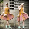 Lu (Julianne Trevisol) usou vestido Gig Couture, que passa dos R$ 2 mil, para mais um dia de trabalho na Revista Totalmente Demais