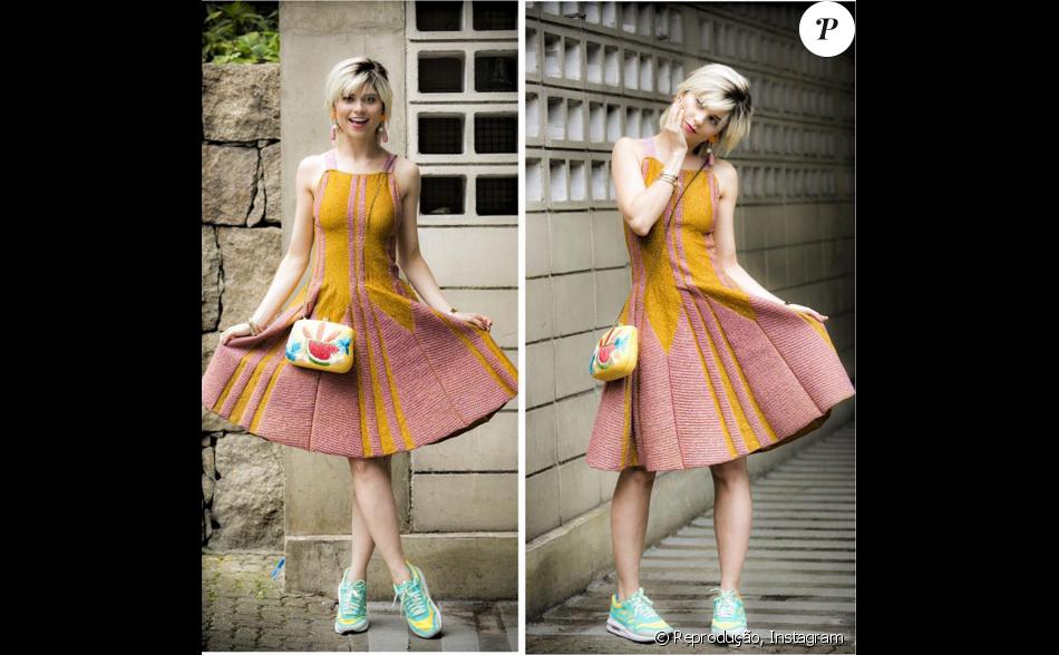 Lu (Julianne Trevisol) usou vestido Gig Couture, que passa dos R  2 mil,  para mais um dia de trabalho na Revista Totalmente Demais f68277720f