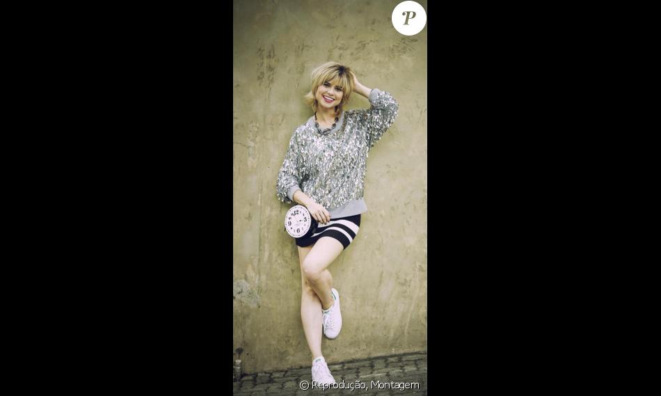 Sport chic, o look da Lu (Julianne Trevisol) para mais um dia de trabalho é  composto por blusa Michael Kors e bolsa relógio da Kate Spade 120835d8ab