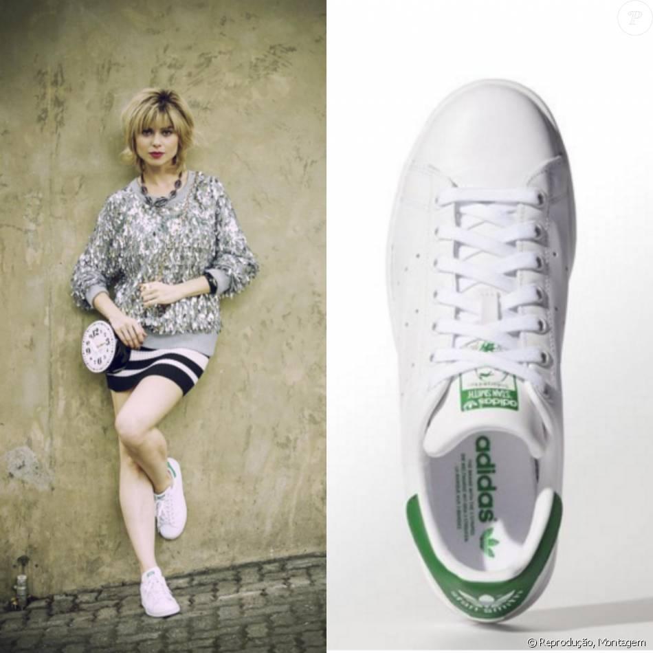 Nos pés, Lu (Julianne Trevisol) apostou no modelo Stan Smith, da Adidas,  disponível online no site da marca por R  349 2a5e392595