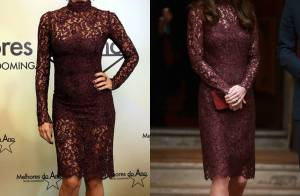 Grazi Massafera repete look de R$10 mil já escolhido por Kate Middleton. Veja!